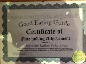 Food certificate